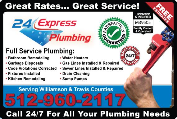 Exclusive Ad: 24 Express Plumbing  5122531805 Logo