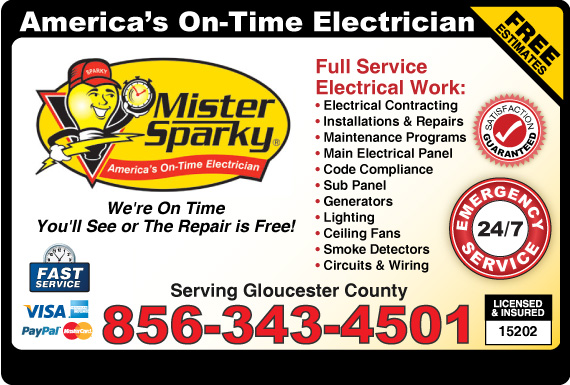 Exclusive Ad: Mister Sparky Electric - Gloucester  8562027800 Logo