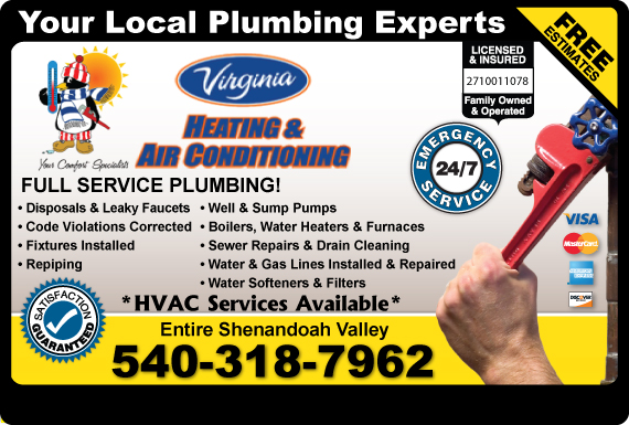 Exclusive Ad: Virginia Plumbing, Heating And Air Conditioning - 540  5404041985 Logo