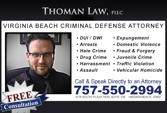Exclusive Ad: Thoman Law Virginia Beach 7572316004 Logo
