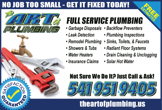 Exclusive Ad: Art of Plumbing LLC Medford 5419519405 Logo