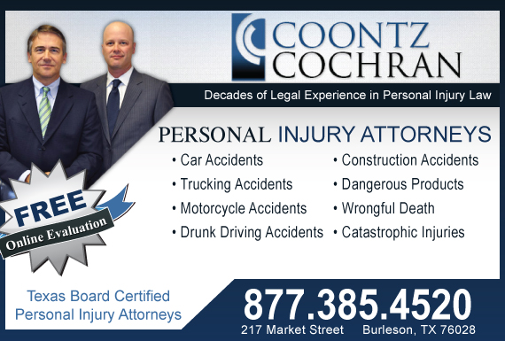 Exclusive Ad: Coontz Cochran - Personal Injury & Car Accidents Burleson 8172951195 Logo
