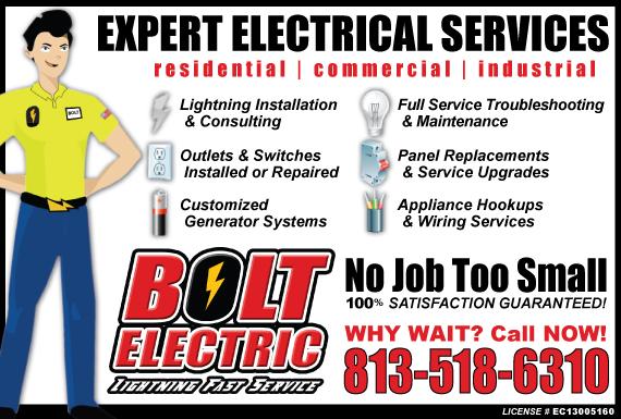 Exclusive Ad: Bolt Electric - Hillsborough Sarasota 8133362270 Logo