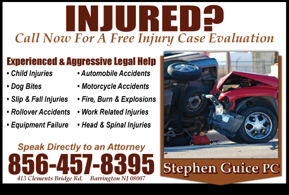 Exclusive Ad: Stephen Guice PC Barrington 8562027990 Logo