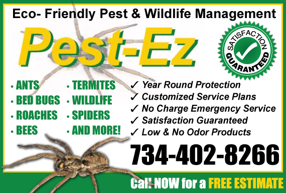 Exclusive Ad: Pest EZ Wixom 7342157010 Logo