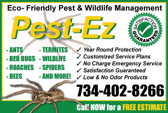 Exclusive Ad: Pest EZ-Jerimia Wixom 7342157010 Logo