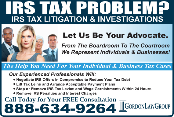 Exclusive Ad: Gordon Law Group Lake Zurich 8886271256 Logo