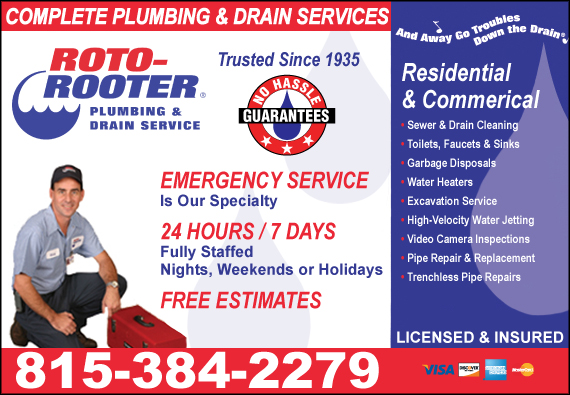 Exclusive Ad: Roto-Rooter Plumbing & Drain  8152011020 Logo
