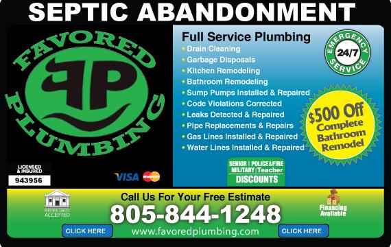 Exclusive Ad: Favored Plumbing  8058441248 Logo