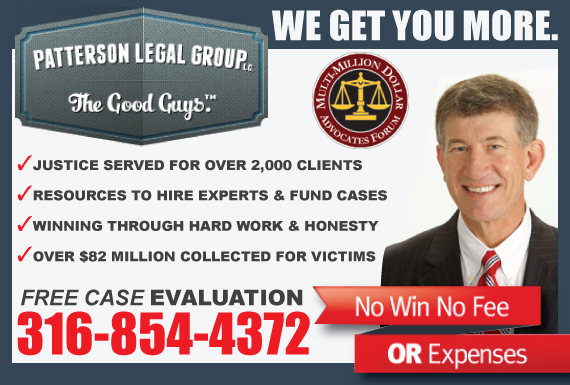 Exclusive Ad: Patterson Legal Group Topeka 3162021105 Logo