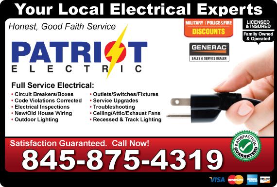 Exclusive Ad: Patriot Electric & Generator Services Monroe 8452003425 Logo