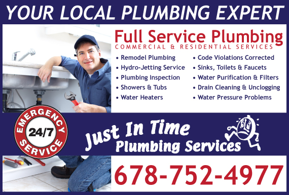 Exclusive Ad: Just In Time Plumbing Services Mayesville 6782505920 Logo