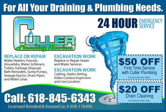 Exclusive Ad: Culler Plumbing Services Troy 6186672070 Logo