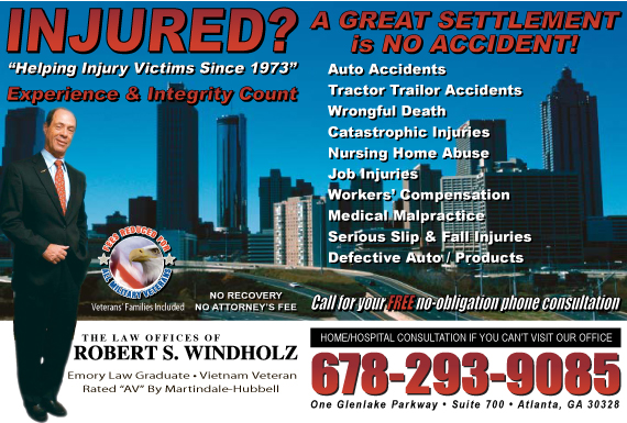 Exclusive Ad: Robert S. Windholz, LLC Atlanta 6789901584 Logo