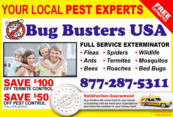 Exclusive Ad: Bug Busters USA Woodstock 7705170210 Logo