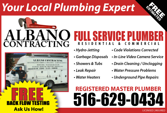 Exclusive Ad: Albano Contracting  5162004295 Logo