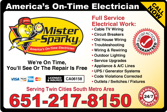 Exclusive Ad: Mister Sparky - Hastings  6512178150 Logo
