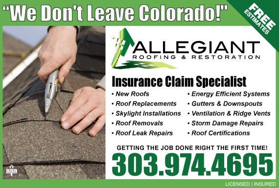 Exclusive Ad: Allegiant Roofing And Restoration Arvada 3032144282 Logo