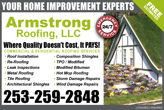 Exclusive Ad: Armstrong Roofing   Logo