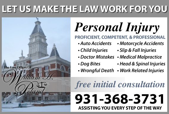 Exclusive Ad: Law Offices Of William H. Poland Clarksville 9312212230 Logo