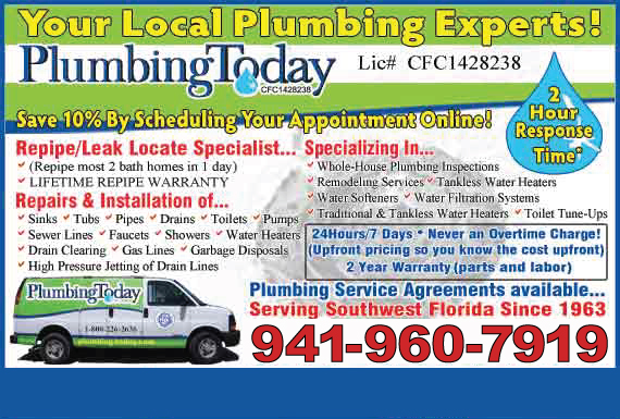 Exclusive Ad: Plumbing Today Riverview 8133316005 Logo