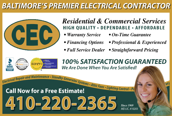 Exclusive Ad: Clinton Electric Lutherville Timonium 4104539800 Logo