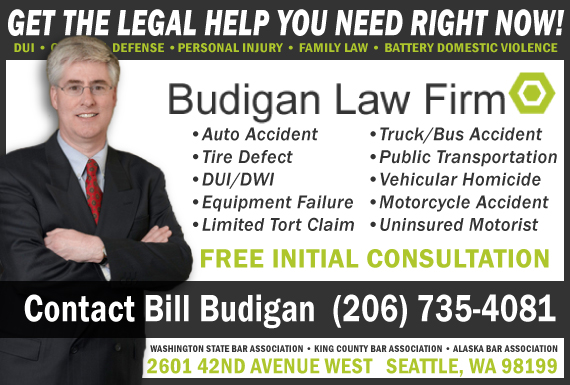 Exclusive Ad: Budigan Law Firm   Seattle 2063177400 Logo