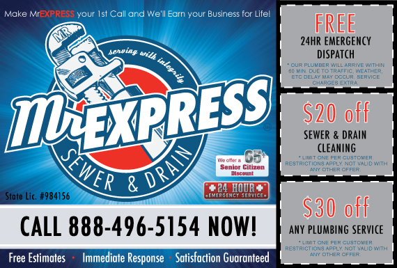 Exclusive Ad: MrEXPRESS Sewer & Drain  8054163309 Logo