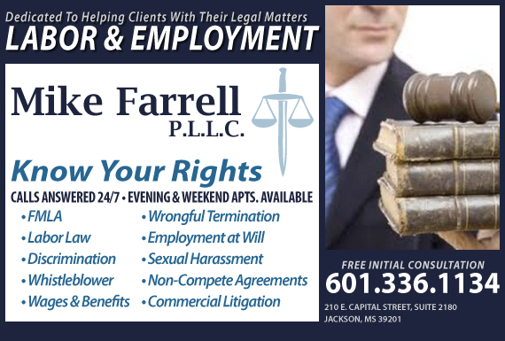 Exclusive Ad: Mike Farrell PLLC Jackson 6012020470 Logo