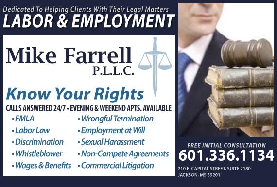 Exclusive Ad: Mike Farrell PLLC Jackson 6012020470 Logo