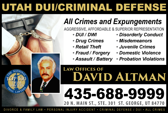 Exclusive Ad: Law Offices of David Altman Saint George 4356889999 Logo
