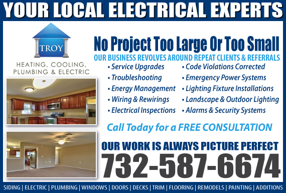 Exclusive Ad: Troy Heating, Cooling, Plumbing & Electric Jackson 7322017450 Logo