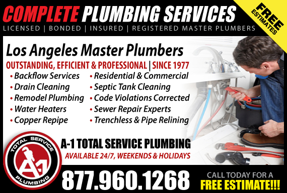 Exclusive Ad: A-1 Total Service Plumbing Los Angeles 3105039711 Logo