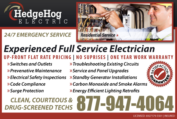 Exclusive Ad: HedgeHog Electric Riverton 8779771715 Logo