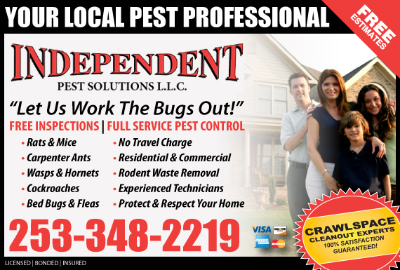 Exclusive Ad: Independent Pest Solutions LLC Puyallup 2533758055 Logo