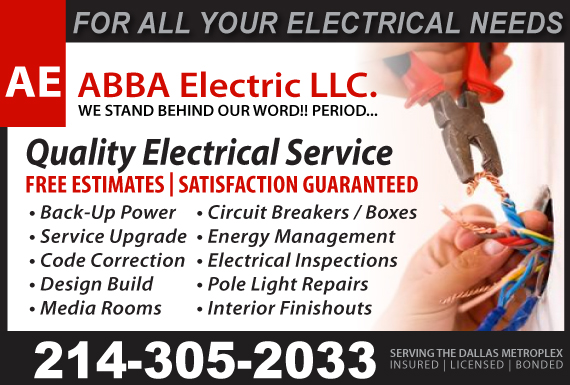 Exclusive Ad: ABBA Electric  Carrollton 2142476725 Logo