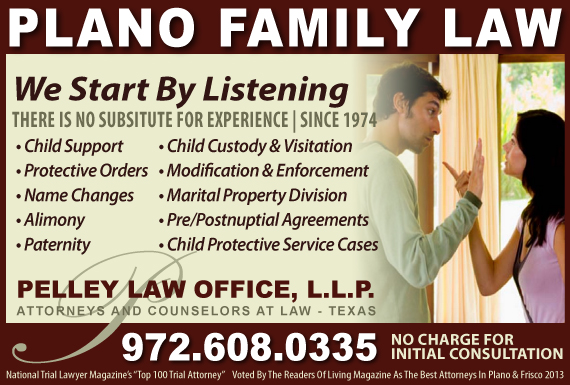 Exclusive Ad: Pelley Law Office, L.L.P. Plano 9726080335 Logo