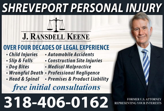 Exclusive Ad: J. Ransdell Keene Shreveport 3182022260 Logo
