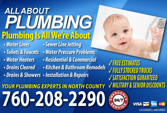 Exclusive Ad: All About Plumbing Oceanside 7602311333 Logo