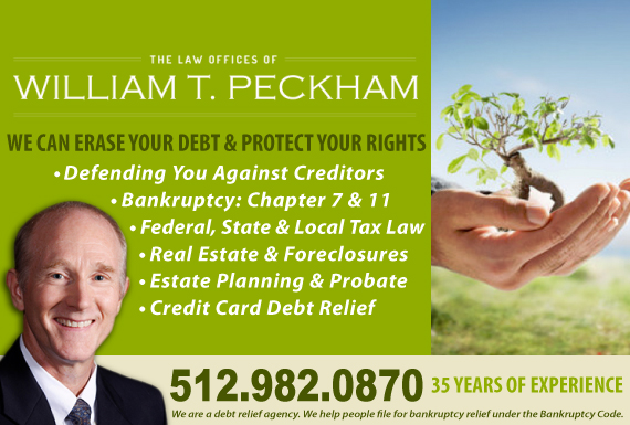 Exclusive Ad: The Law Offices of William T. Peckham Austin 5124728126 Logo