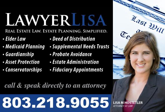Exclusive Ad: LawyerLisa, LLC Columbia 8037443656 Logo