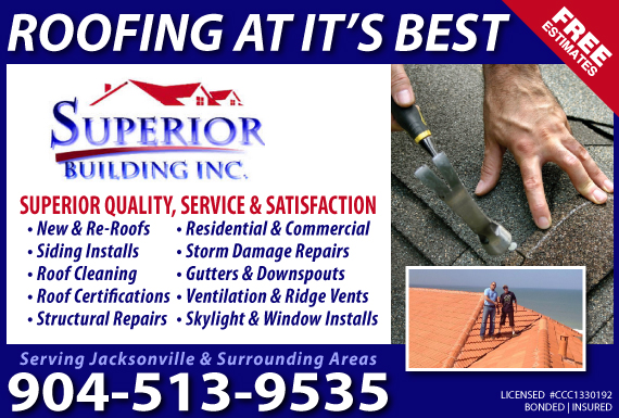 Exclusive Ad: Superior Building Inc. Jacksonville 9045864131 Logo