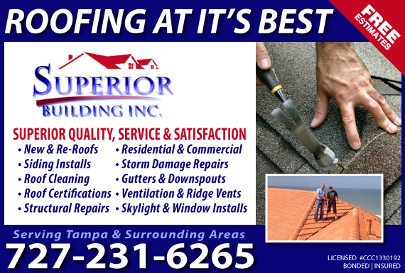 Exclusive Ad: Superior Building Inc.-Tampa Jacksonville 7275206456 Logo