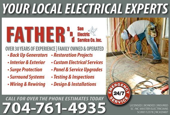 Exclusive Ad: Father and Son Electric Service Co Inc. Fort Mill 8038020057 Logo
