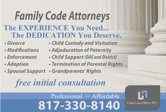 Exclusive Ad: Hurr Law Office P.C. - Family Law Fort Worth 8172100150 Logo