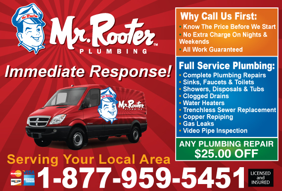 Exclusive Ad: Mr. Rooter Plumbing  2547452508 Logo