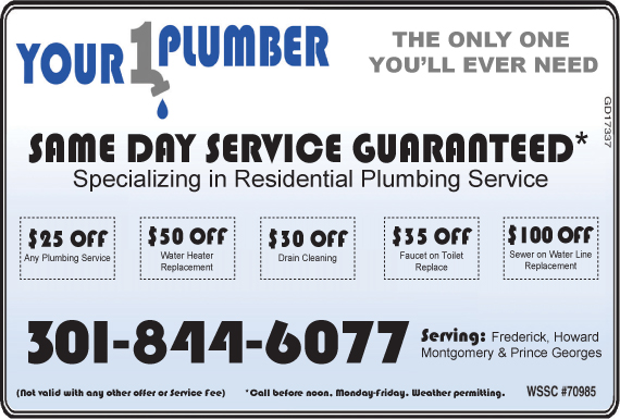 Exclusive Ad: Your 1 Plumber, LLC - MD Germantown 3018446000 Logo