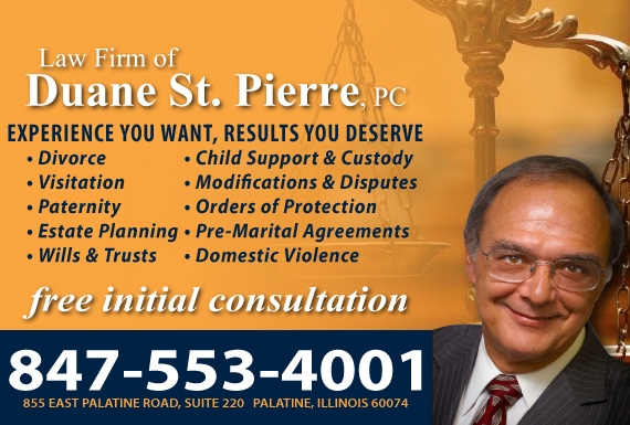 Exclusive Ad: Law Firm of Duane St. Pierre, PC Palatine 8473597199 Logo