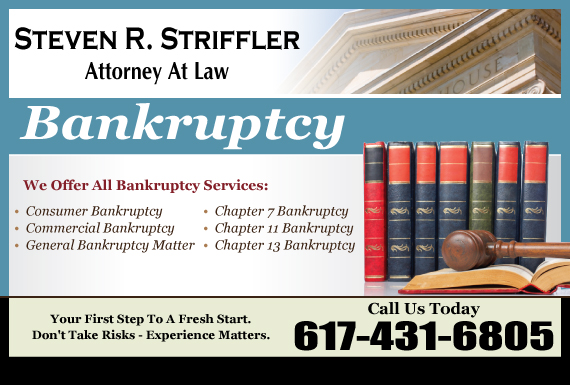 Exclusive Ad: Steven R. Striffler, Attorney At Law Quincy 6172901573 Logo