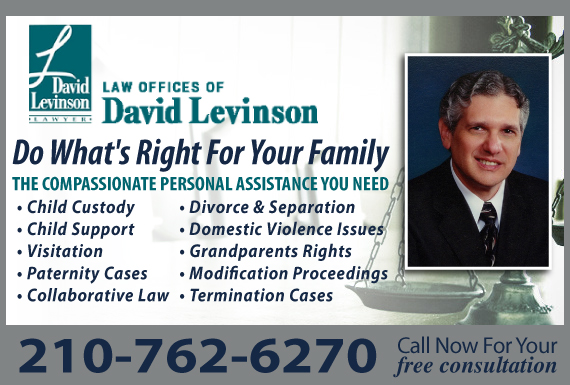 Exclusive Ad: Law Offices of David Levinson San Antonio 2108295033 Logo